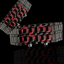 New LED Digital Lava Faceless Samurai Cool Metal Unisex's Bracelet Wrist Watch