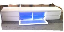 LED 2400 Hi Gloss White Lowline TV Unit - BRAND NEW
