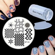 Geometry Nail Art Image Stamp Plate Scraper Stamper Manicure Template DIY Kit