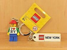 LEGO KEY CHAIN - 'I LOVE NY MINIFIGURE' (853309) ITEM 4644616 - BRAND NEW!!