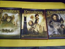 (3) The Lord of the Rings DVD Lot: Fellowship 2 Towers Return of King Widescreen