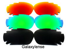 Galaxy Replacement Lenses For Oakley Jawbone Black&Green&Red Polarized 3Pairs