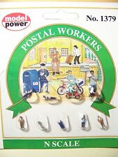 N scale Model Power 1379 POSTAL WORKERS Figures with Mailman and Accessories