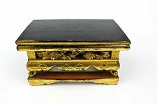 #1595 Vintage Japanese Buddhist Alter Stand Lacquered Wood Gold Butsudan Zen