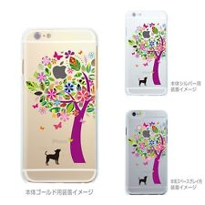 **MADE IN JAPAN** Soft Clear TPU Case doggie color tree for iPhone 6 & iPhone 6s