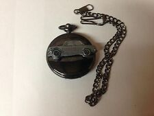 BMW 2002 ref26 emblem polished black case mens pocket watch