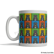 Staffordshire Bull Terrier Dog Mug - Cartoon Pop-Art Coffee Tea Cup 11oz Ceramic