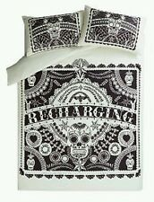 Day Of The Dead Style Sugar Skull Tattoo Mandala DOUBLE Duvet Cover Set New