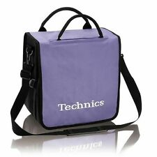 Technics Backpack 12 Inch Vinyl Record Bag (purple with white logo)