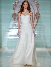 AUTHENTIC Reem Acra Favorite Girl 5127 Ivory Wedding Dress 8 RETURN POLICY
