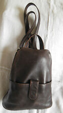 Vintage Brown ALDO Collection Leather Cross-body or Backpack bag 3 compartments