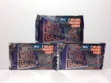 5 packs 1995 Topps Star Wars Galaxy Series 3