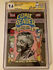 Comic Reader 179 Magazine CGC SS STAN LEE  9.6---Only One On eBay!!!