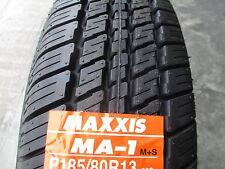 2 New 185/80R13 Maxxis MA-1 Tires 80 13 1858013 R13 80R Treadwear 420