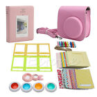 7 in 1 Instant Camera Accessories Film Bundles For Fujifilm Instax Mini8 Pink