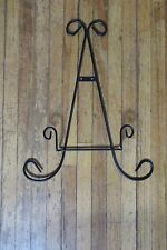 Black Metal Decorative/Collector Plate Holder Wall Hanging Rack