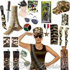 ARMY LADIES/MENS FANCY DRESS COSTUME ACCESSORIES HEN STAG NIGHT MILITARY
