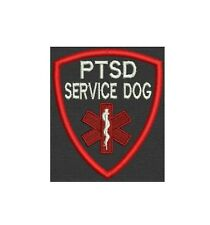 PTSD Service Dog Patch Shield Custom Embroidered tag, badge