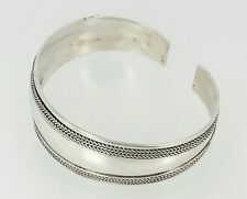 $620 retail Vintage heavy sterling silver Mexican Bangle Handmade