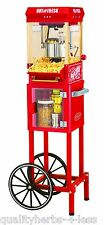 "Nostalgia Electrics KPM200CART 45""Tall Vintage Collection Popcorn Cart Kitchen"