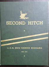USS BON HOMME RICHARD CV-31 RECOMMISSIONING AND KOREAN WAR CRUISE BOOK 1951 (C)
