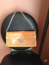 Michael Kors Brown Leather Small Shoulder Bag with Chain Strap