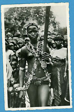 Vintage Senegal Dakar Female, Scarification  Black & White Post Card