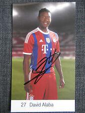Handsignierte AK Autogrammkarte *DAVID ALABA* FC Bayern München 14/15 2014/2015