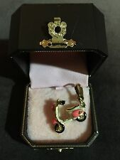 New JUICY COUTURE Dolce Vita Vespa Scooter Pink Enamel Gold Charm