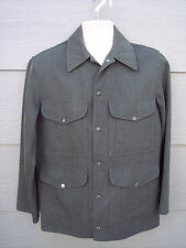 "Vintage Mens CC Filson Hunting Jacket Sz 36 42"" Chest Green 100% Wool Game Pouch"