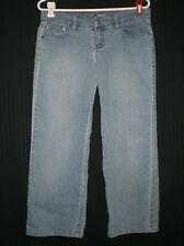 Roxy Jean Junior's Stretch Broken In Blue Jeans sz 7 W:34 H:44 R:8 1/2 I:26
