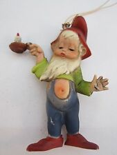 Vintage Christmas Gnome / Elf / Pixie Ornament Hong Kong