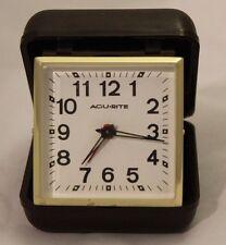 Vintage Acu-Rite Travel Foldup Windup Alarm Clock