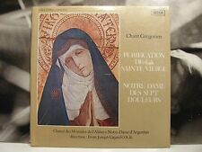 CHANT GREGORIEN - PURIFICATION DE LA SAINTE VIERGE JOSEPH GAJARD LP SEALED DECCA