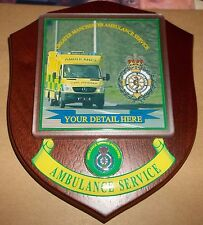 Greater Manchester Ambulance Service wall plaque personalised free of charge.