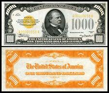 NICE  CRISP UNC.1934 $1,.000 GOLD CERTIFICATE COPY PLEASE READ DESCRIPTION!