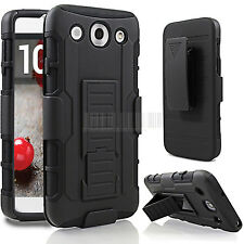 Armor Hybrid Impact Stand Holster Belt Clip Case Cover For LG Optimus G Pro E980