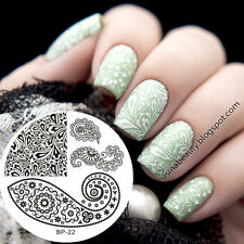 Papillon Ongle Nail Art Stamping pochoir Template Image plaque BORN PRETTY 22