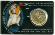 VATICANO. COIN CARD. 50 CÉNTIMOS DE 2016