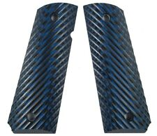 LOK Grips Full Size Custom 1911 Grips Ridgebacks Blue/Black