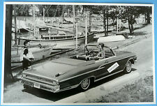 "12 By 18"" Black & White Picture 1962 Mercury Monterey Custom Convertible"