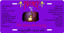 """""""PRINCE"""" Rest In Peace  Novelty Vanity License Plate, Made With Pride In U.S.A.1"""