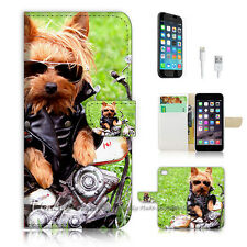 iPhone 7 PLUS (5.5') Flip Wallet Case Cover P0539 Motorcycle Dog