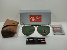 RAY-BAN SHOOTER HAVANA SUNGLASSES RB3138 181 GOLD FRAME/G-15 XLT LENS NEW! 62MM