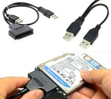 "2.5"" Hard Disk Drive SATA 22Pin to USB 2.0 Powered Data Cable Adapter For PC CA"