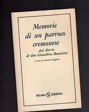 memorie di un parroco cremonese dal diario di don Gioachino Bonvicini-A. Fappani