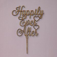 Rustic Wooden Cake Topper - Happily Ever After, Wedding, Engagment, Love
