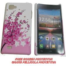 Pellicola+custodia BACK COVER RIGIDA CILIEGIO per LG Optimus 4X HD P880 (C7)