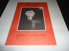 AFFICHE MARIO AVATI.MANIERE NOIRE.HONFLEUR.ANNEE 2000