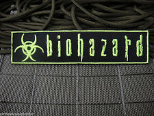 ill Gear BIOHAZARD  Patch Fluorescent Green ZOMBIE HUNTER 1X5 symbol sign
